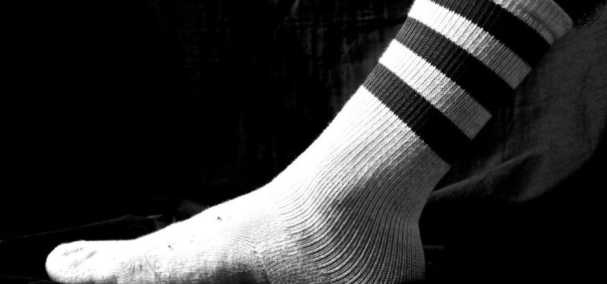 A boring pair of tube socks