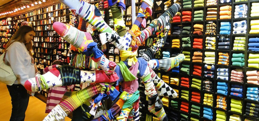The latest sock design trends continue to favor bold socks