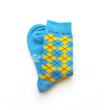 Custom dress socks in crew length
