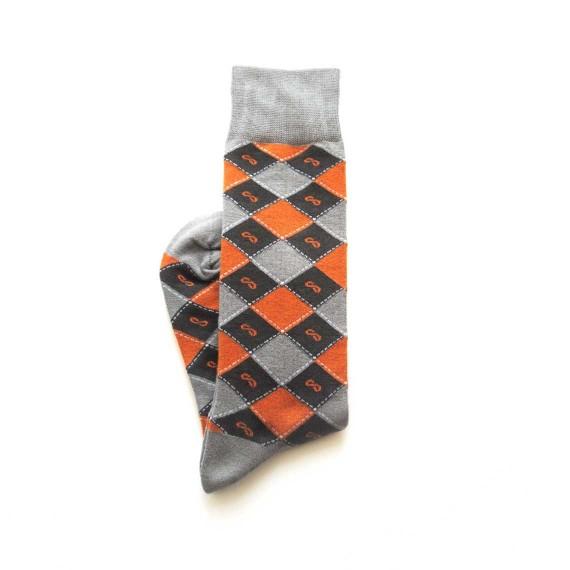 Custom dress socks in mid-calf length