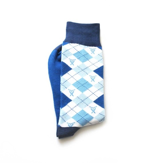 Custom dress socks in crew length
