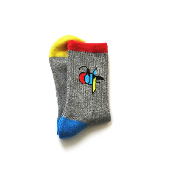 Custom sport socks in crew length