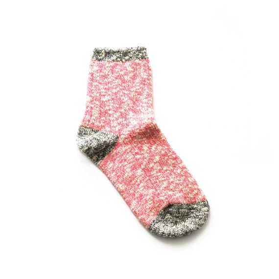 Custom heathered socks in quarter length
