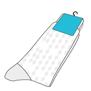 Custom printed sock tag