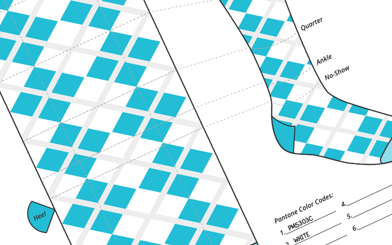 Custom sock design template