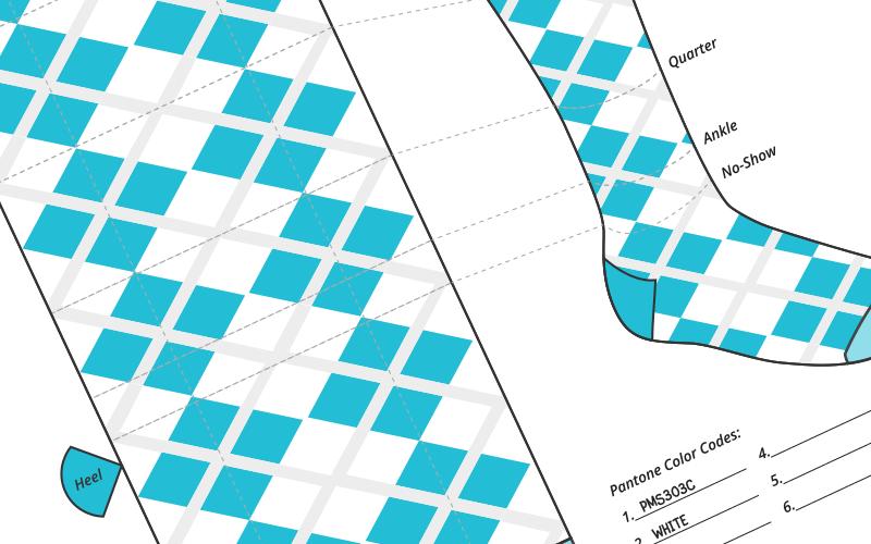 Custom sock design template