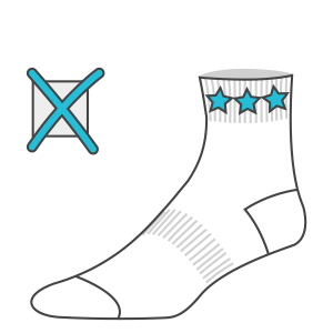 Graphics in cuff area not recommended in custom knitted socks