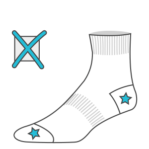 Graphics in heel and toe areas not allowed in custom knitted socks