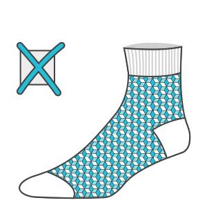 Fine graphics not allowed in custom knitted socks