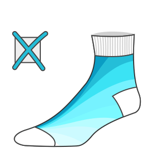 No gradients allowed in custom knitted socks