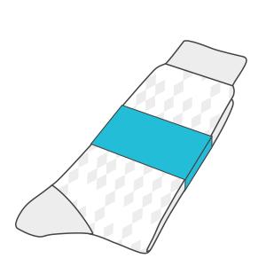 Custom printed sock band